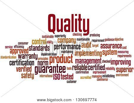 Quality, Word Cloud Concept 8