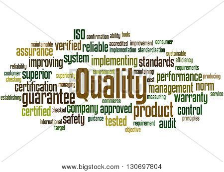 Quality, Word Cloud Concept 9