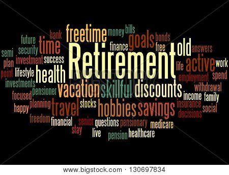 Retirement, Word Cloud Concept 2