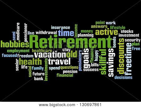 Retirement, Word Cloud Concept 5