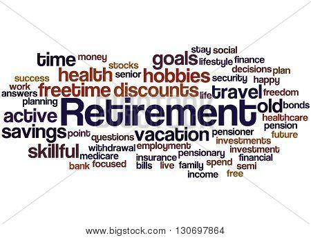 Retirement, Word Cloud Concept 6