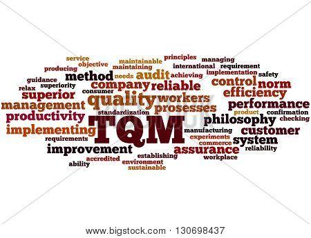 Tqm - Total Quality Management, Word Cloud Concept 4