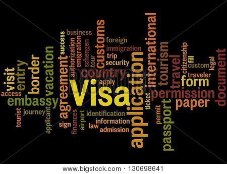 Visa Application, Word Cloud Concept 6