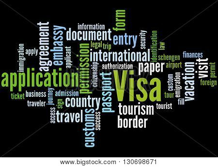 Visa Application, Word Cloud Concept 7