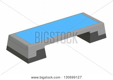 Aerobic Stepper Fitness Board Cardio 3D rendering isolated on white background