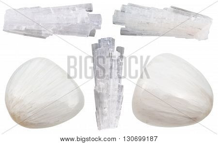 Scolecite Gemstones And Crystals Of Isolated