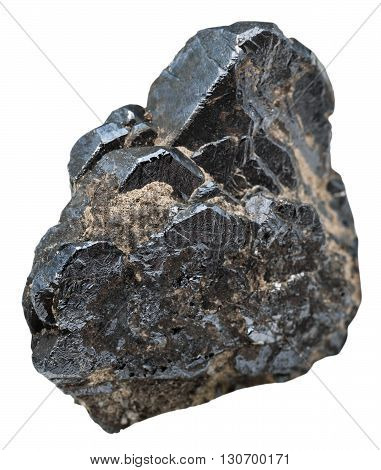 Specimen Of Ilmenite Isolated On White