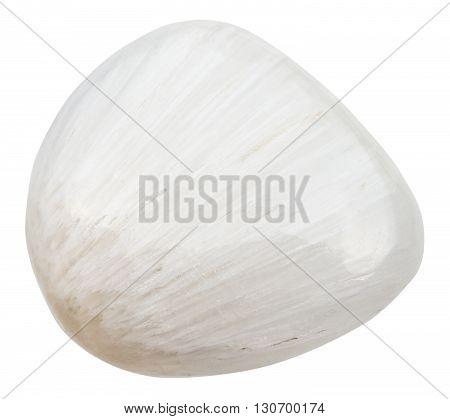 Polished Scolecite Gemstone Of Isolated On White