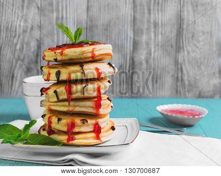 Stack Of Fresh Pancakes