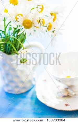 Spring Time Interior With Flowers