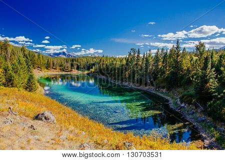 Third Lake, Valley Of The 5 Lakes, Jasper National Park, Alberta, Canada