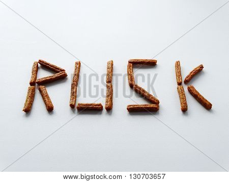 Caption bread on a white background rusk crackers snack food