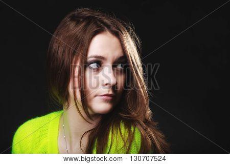 People Concept - Teenage Girl Portrait