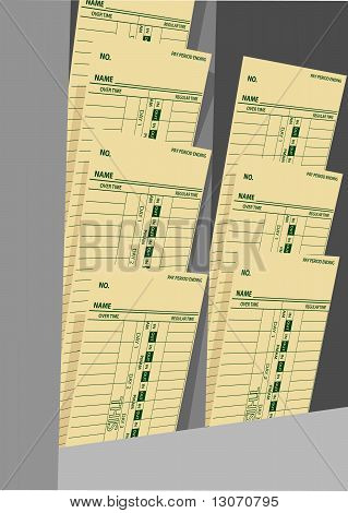 Trabajo semanal de salarios tarjetas tarjeta Rack