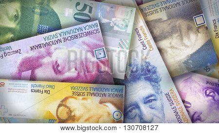Swiss Franc Background