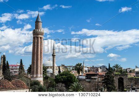 Mosque And Minaret In Antalya