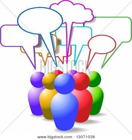 People Symbols Social Media Speech Bubbles
