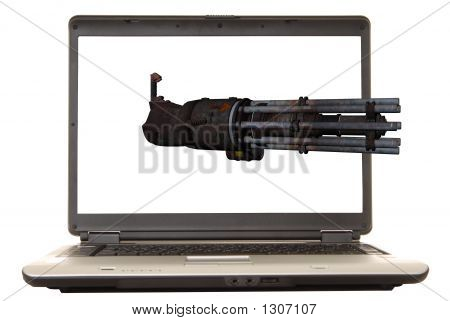 Laptop Gatling Gun