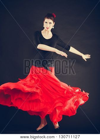 Beautiful Woman Dancing Oriental Dance.