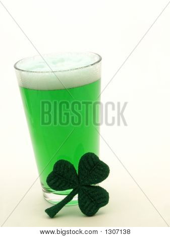 St Patricks Day Green Beer And Shamrock