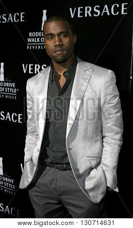 Kanye West at the Rodeo Drive Walk Of Style Award honoring Gianni and Donatella Versace held at the Beverly Hills City Hall in Beverly Hills, USA on February 8, 2007.