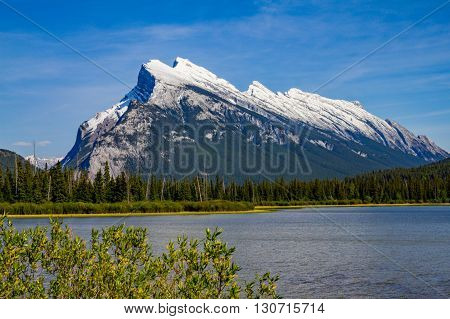 Mount Rundle in Banff National Park, Alberta, Canada