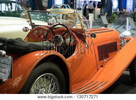 Verona Italy - May 25 2015: The municipality of Verona organizes a free gathering of sports and antique cars. Are exposed the most beautiful cars in the world.