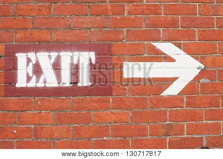 Exit Sign And Arrow