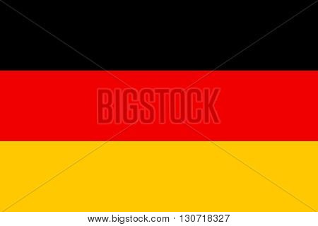 Flag of Germany. Germany flag vector illustration.