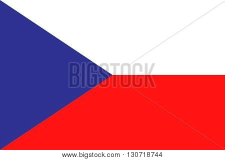 Flag of Czech Republic. Czech Republic flag vector illustration.