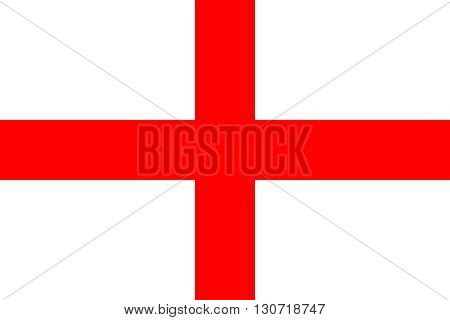 Flag of England. England flag vector illustration.