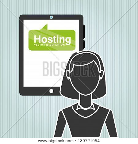 web hosting design, vector illustration eps10 graphic