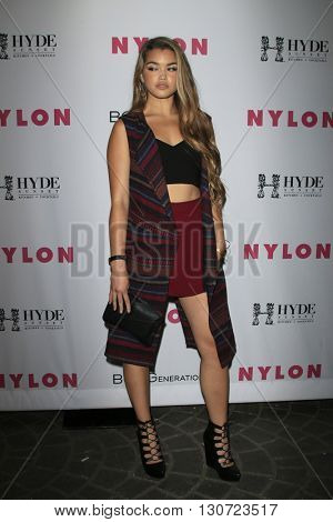 LOS ANGELES - MAY 12:  Paris Bereic at the NYLON Young Hollywood May Issue Event at HYDE Sunset on May 12, 2016 in Los Angeles, CA