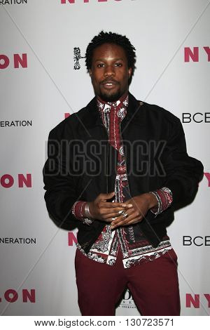 LOS ANGELES - MAY 12:  Shameik Moore at the NYLON Young Hollywood May Issue Event at HYDE Sunset on May 12, 2016 in Los Angeles, CA