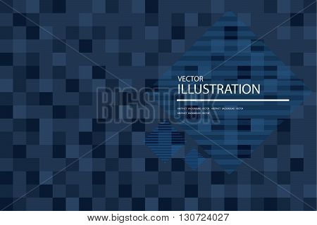 Blue mosaic background pixel abstract squares background vector