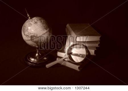 Books And Globes V