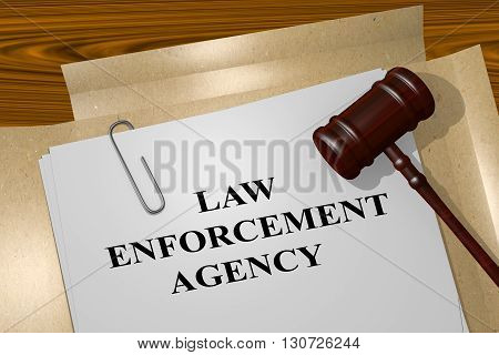 Law Enforcement Agency Legal Concept