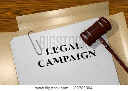 Legal Campaign Legal Concept