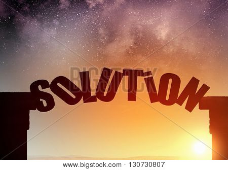 Solution word as concept