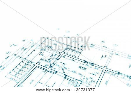 Blueprint Floor Plan, Architectural Drawing, Construction Background
