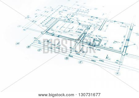 Architectural Project, Floor Plan Blueprint, Construction Plan, Architectural Background