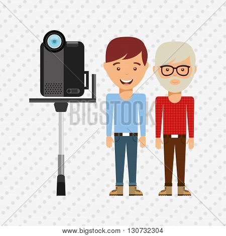 family video camera design, vector illustration eps10 graphic
