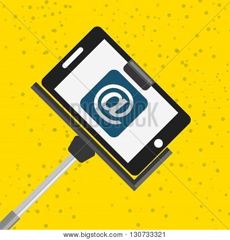 selfie with monopod design, vector illustration eps10 graphic