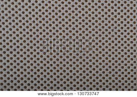 Close up of grey textured synthetical background