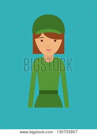 female officer design, vector illustration eps10 graphic
