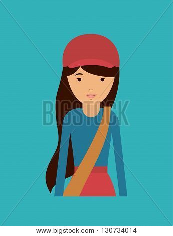 mail woman design, vector illustration eps10 graphic