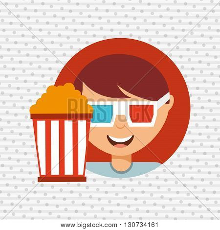 movie viewer design, vector illustration eps10 graphic