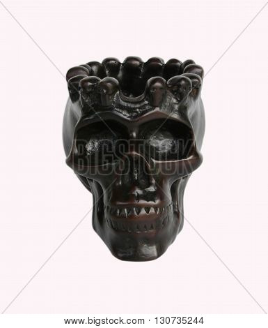 Spooky skull on white background. Great for halloween.