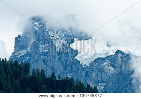 Wetterhorn, Swiss Alps - snow capped mountains and deep valleys stunning view breath-taking panorama