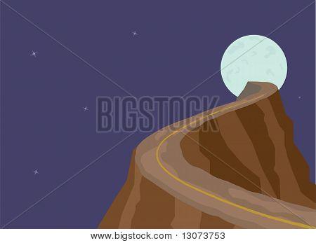 Narrow dangerous mountain Road To